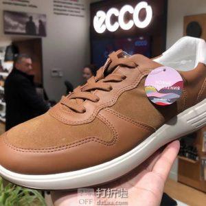 ECCO 爱步 SOFT 7 柔酷7号 男式休闲跑鞋 板鞋 优惠券折后3.2折$54.71 海淘转运到手约¥481