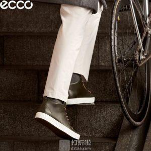 断码3.8折 ECCO 爱步 柔酷8号 男式高帮休闲鞋 $75.93 海淘转运到手约¥628 天猫¥1640