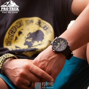Casio 卡西欧 Pro Trek系列 PRG-600-1CR 三重感应 双显太阳能户外登山表 4.7折$139.99史低 海淘转运关税补贴到手约¥1129