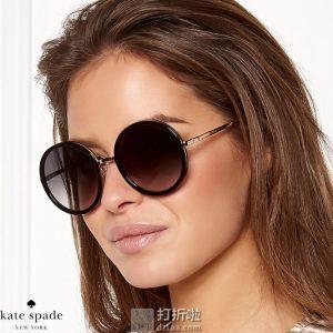 Kate Spade 凯特丝蓓 Lamonica 复古圆框 女式太阳镜 3.3折$60.2 海淘转运到手约¥426