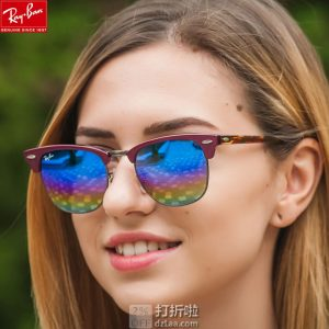 Ray-Ban RB3016 雷朋 Clubmaster 俱乐部系列 中性炫彩太阳眼镜 4.2折$74.95 海淘转运到手约¥545
