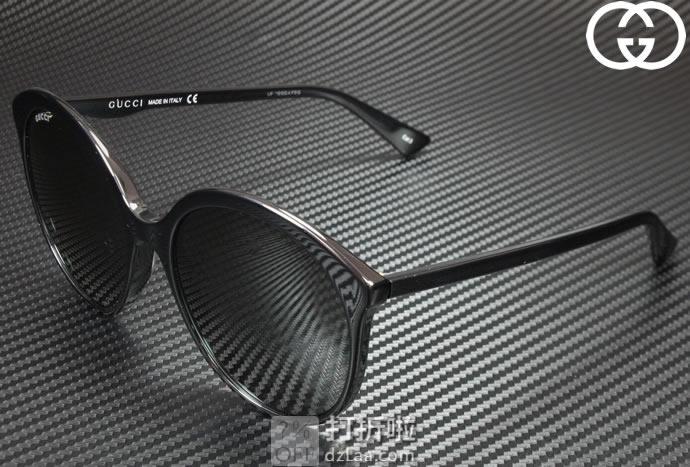 意大利产 倪妮同款不同色 GUCCI 古驰 GG0257S  女式圆形大框太阳镜 4.1折$129.5 海淘转运到手约¥931