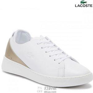 LACOSTE 法国鳄鱼 Eyyla 女式休闲运动板鞋 小白鞋 40码3.1折$40.16 海淘转运到手约¥374