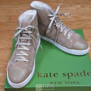 Kate Spade 凯特·丝蓓 Lendal 羊毛衬里 女式高帮板鞋 休闲鞋 36码2.5折$50.34 海淘转运到手约¥442