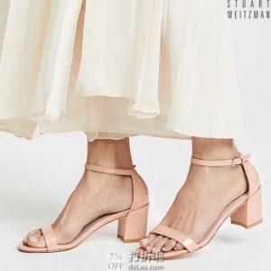 限尺码 Stuart Weitzman 斯图尔特·韦茨曼 Simple 一字扣 女式粗跟凉鞋 4.1折$165.33 海淘转运到手¥1217 天猫¥3650