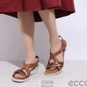 ECCO 爱步 Felicia 菲莉系列 女式坡跟凉鞋 优惠券折后$57.71 海淘转运到手约¥463