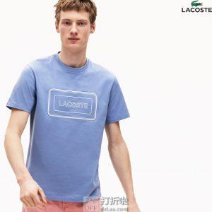 Lacoste 法国鳄鱼 夜光LOGO 男式圆领T恤 2.4折$17.96 海淘转运到手约¥140