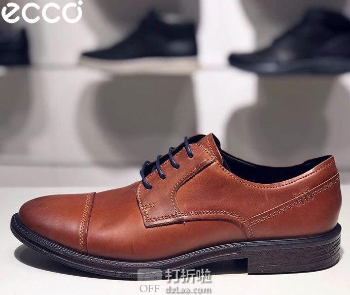 ECCO 爱步 Knoxville 诺斯 男式德比鞋 43码3.8折$59.55 海淘转运到手约¥589