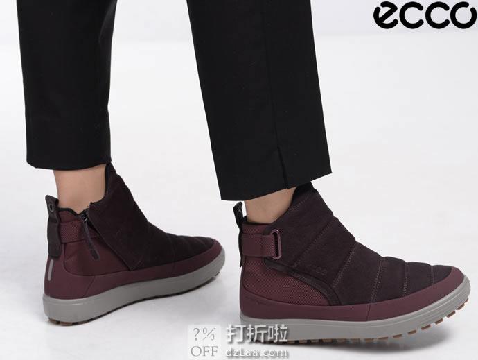 ECCO 爱步 SOFT 7 柔酷7号 Hydromax防水保暖 女式短靴 39码2.9折$55.83 海淘转运到手约¥479