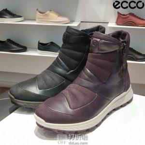 ECCO 爱步 Exostrike 突破系列 Hydromax 防泼水 侧拉链女式户外保暖短靴 38码4.2折$84.63 海淘转运到手约¥678