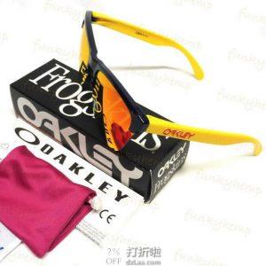 Oakley 欧克利 Frogskins Lite 谱锐智 铱镀膜太阳镜 4.7折$70 海淘转运到手约¥454 天猫¥970