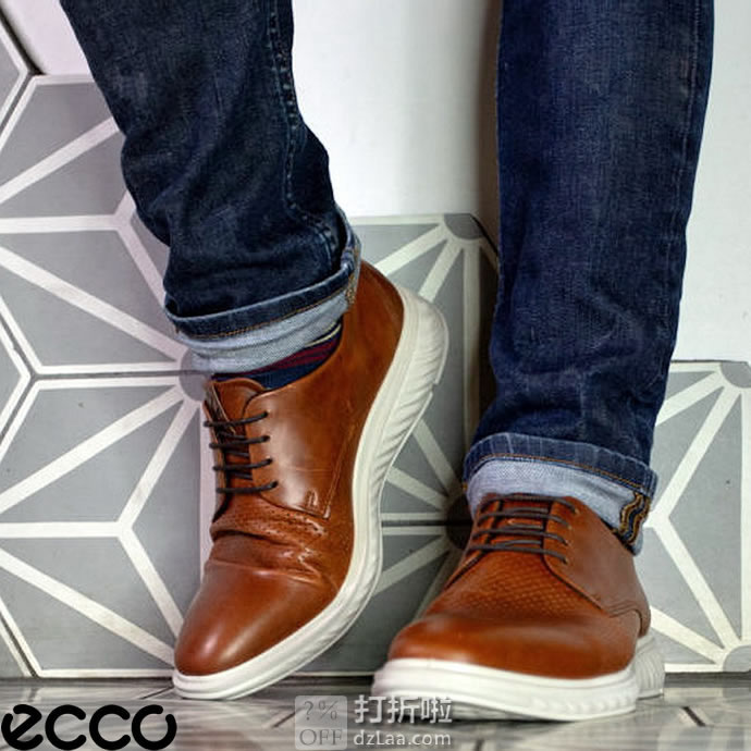 ECCO 爱步 ST.1 Hybrid Lite 适动混合轻巧系列 男式牛津鞋 41码¥431.66秒杀