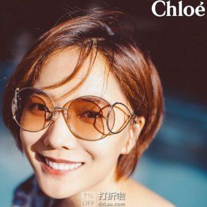 Chloe 蔻依 圆框复古水滴型 女式太阳镜 CE124S 4.1折$89.99 海淘转运到手¥629