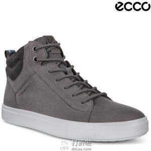 Prime会员福利 金盒特价 ECCO 爱步 Kyle 凯尔系列 男式高帮板鞋 休闲鞋 42码5.1折$60.97 海淘转运到手约¥500
