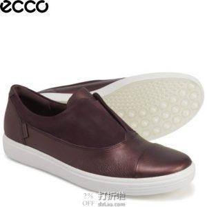 ECCO 爱步 Soft 7 III 柔酷7号 III 一脚套女式休闲鞋 35码4.1折$45 海淘转运到手约¥392