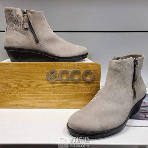 ECCO 爱步 Skyler斯凯乐系列 双侧拉链 女式坡跟踝靴 5折$59.99 海淘转运到手约¥490 2色多码可选