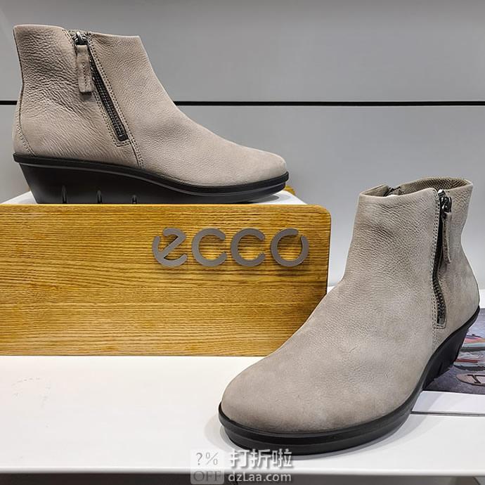 ECCO 爱步 Skyler斯凯乐系列 双侧拉链 女式坡跟踝靴 5.8折$69.99 海淘转运到手约¥547