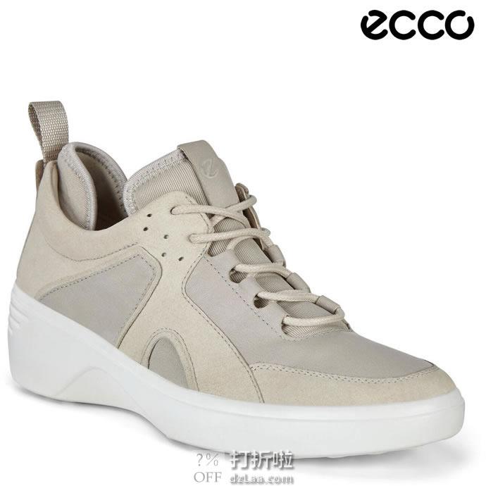 ECCO 爱步 Soft 7 柔酷7号 女式坡跟运动休闲鞋 35码4.1折$64.9 海淘转运到手¥524 天猫¥1274