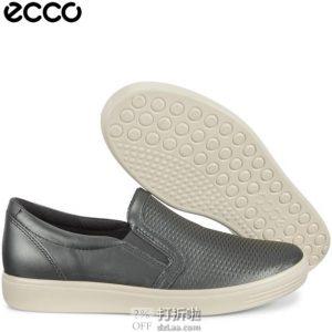 ECCO 爱步 柔酷系列 一脚套女式休闲鞋 35码4.7折$46.52 海淘转运到手约¥395