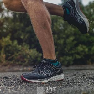 Saucony 索康尼 HURRICANE 飓风 ISO 5 稳定支撑男式跑步鞋 40加宽码 4折$66.41 海淘转运到手约¥527