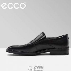 ECCO 爱步 高端款 Illinois 伊利诺 一脚套 男士正装鞋 42码3.1折$79.95 海淘转运到手约¥616