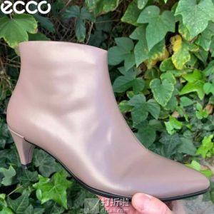 ECCO 爱步 Shape 45 型塑系列 女式侧拉链细跟短靴 35码3.1折$62.5 海淘转运到手约¥501