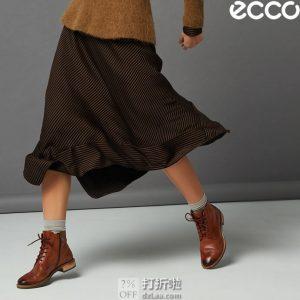 ECCO 爱步 Sartorelle 25 洒脱系列 布洛克风格 女式短靴 ¥666.59