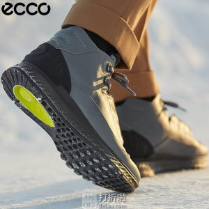 ECCO 爱步 Exostride M 跃动系列 牦牛皮 男式减震高帮短靴 ¥831.91