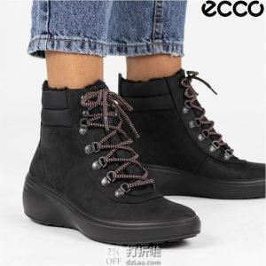 ECCO 爱步 Soft 7 柔酷7号 防水保暖 女式高帮短靴 39码¥560.7
